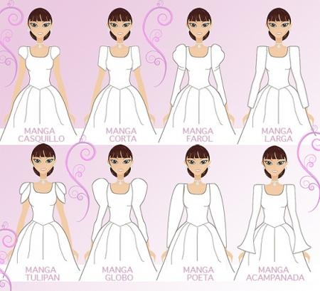 Distintas mangas para vestidos de novias