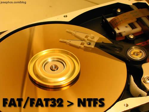 Конвертировать fat32 в ntfs