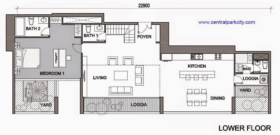 Vinhomes Central Park Penthouse - Căn số 03 tầng 45-46 Lower Floor - 3PN - 269.3m2