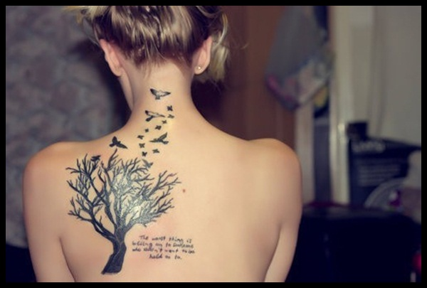 Women Back Tattoos