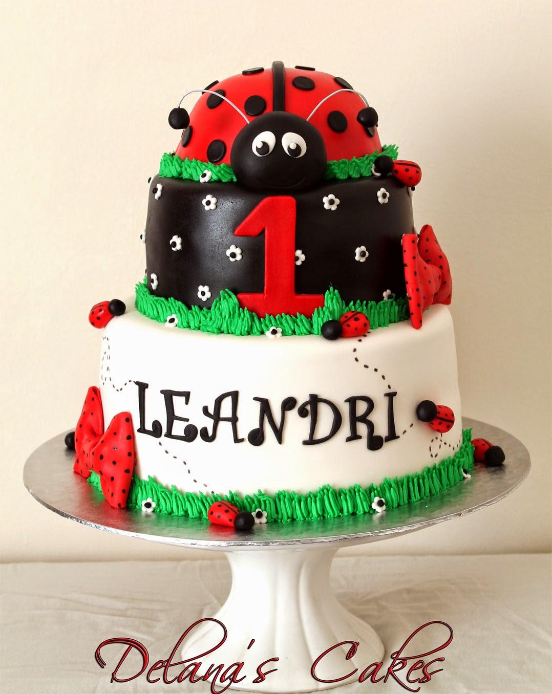 Delanas Cakes Ladybug Birthday Cake