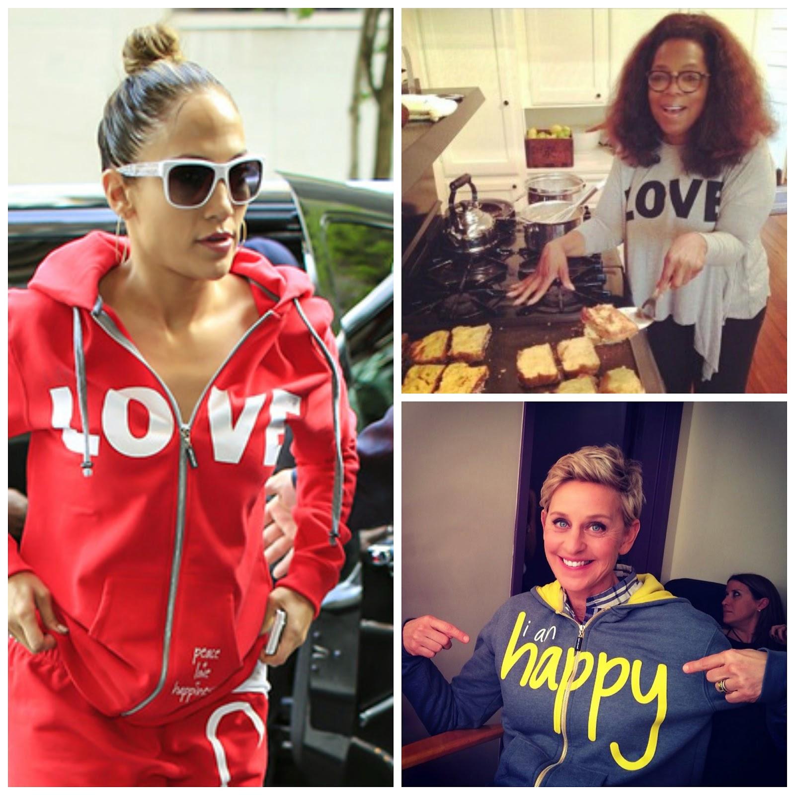 A List Celebrities Love The Casual Wear Clothing Including Jennifer Lopez Oprah And Ellen Degeneres
