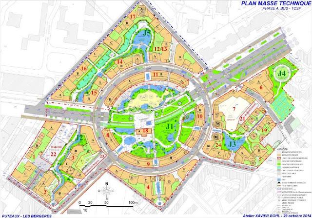 Parc allure puteaux eco quartier des berg res 4 5 for Qu est ce que le plan de masse