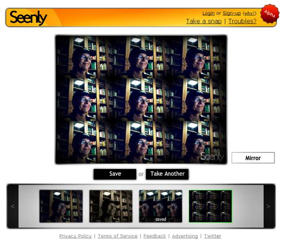 effet photo avec webcam