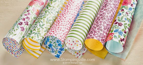 Stampin' Up! Painted Blooms Designer Series Paper Collection #papercrafts #stampinup #cardmaking