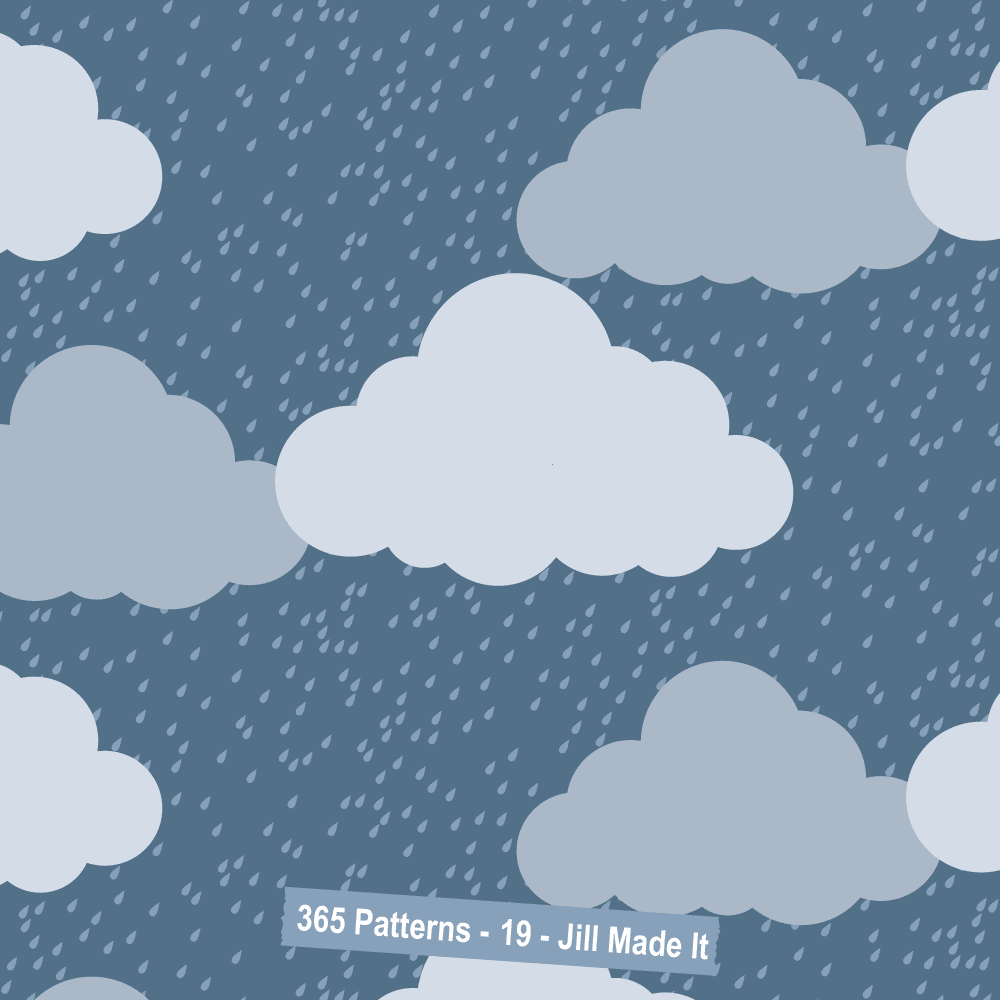 365 Patterns:  Stormy Clouds