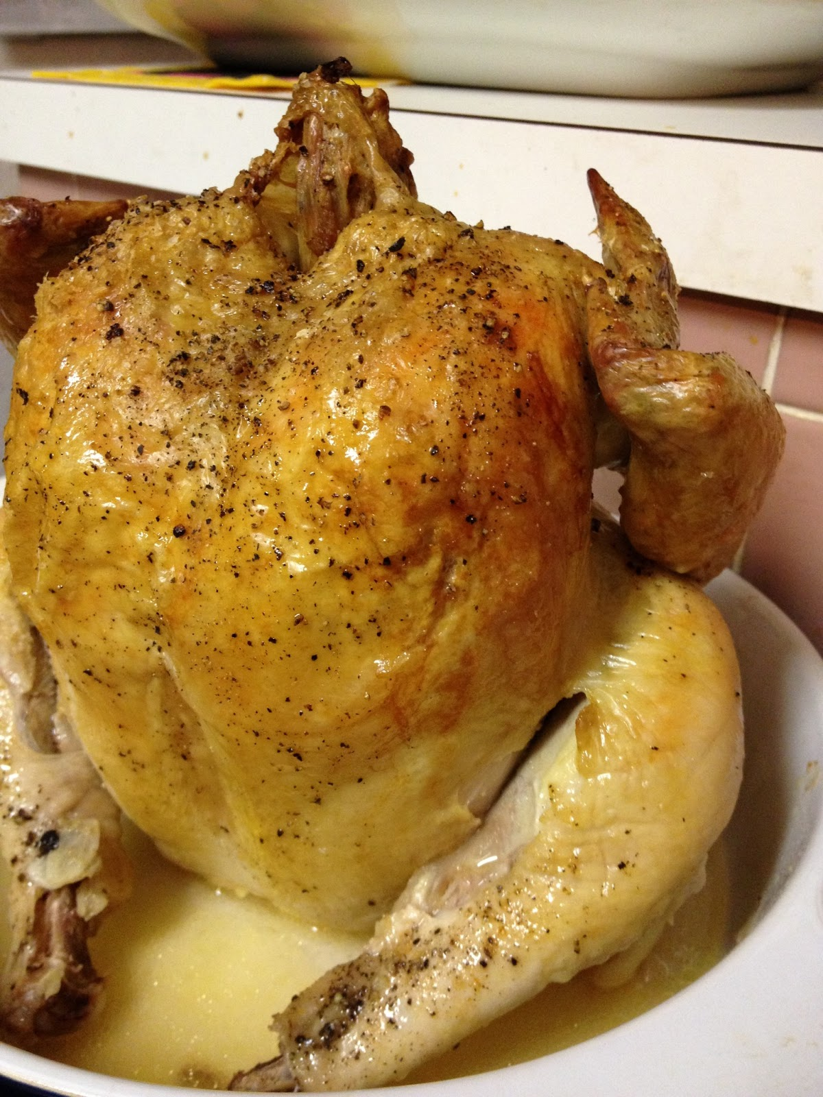 how to cook a whole chicken in a roaster pan