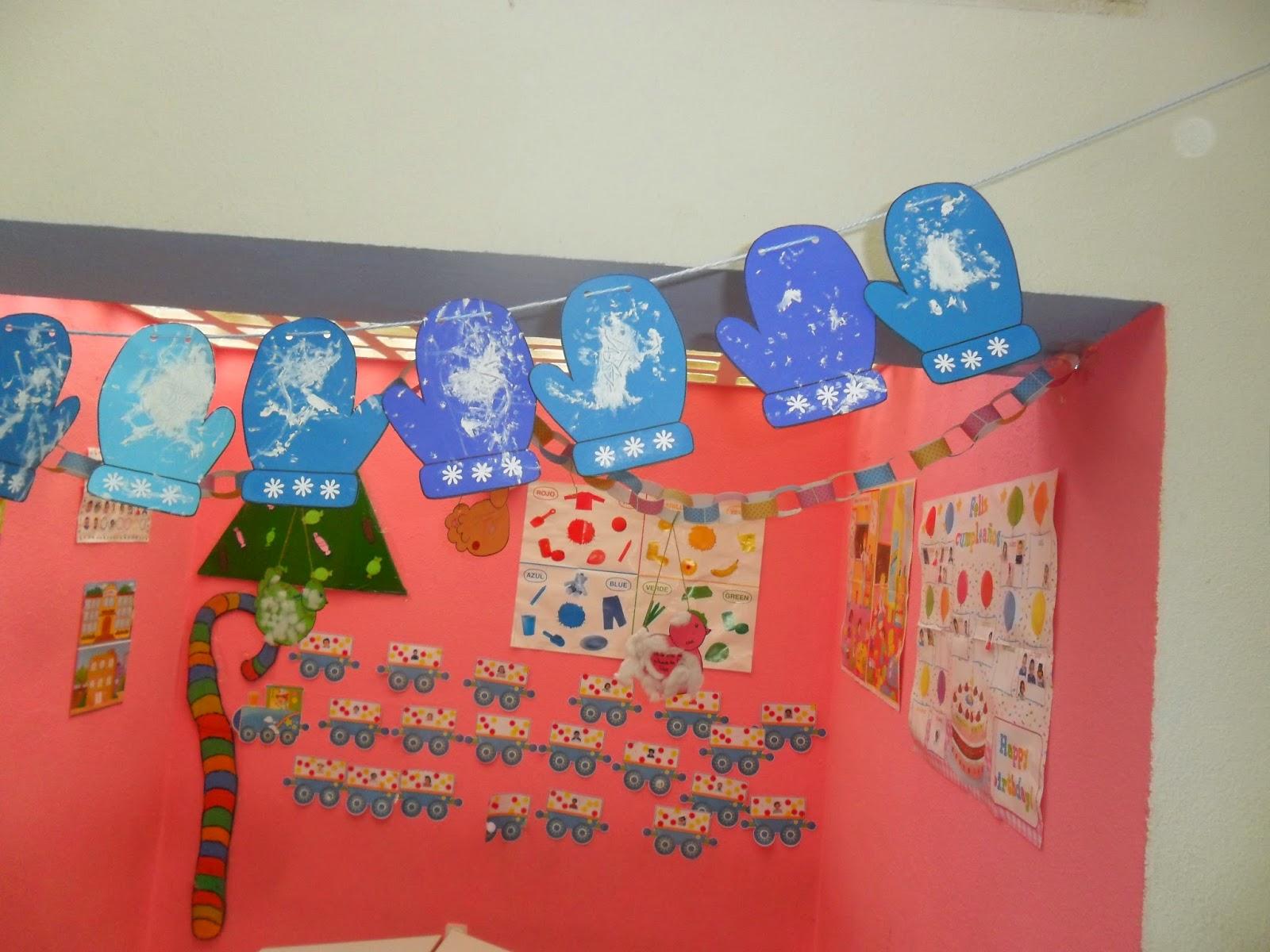 Materiales para educaci n infantil guantes para el invierno for Decoracion verano jardin infantil