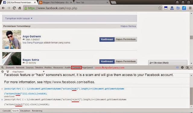 Cara Cepat Konfirmasi dan Hapus Semua Permintaan Pertemanan Facebook