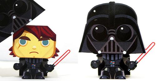 Darth Vader paper toy, Publicitário13