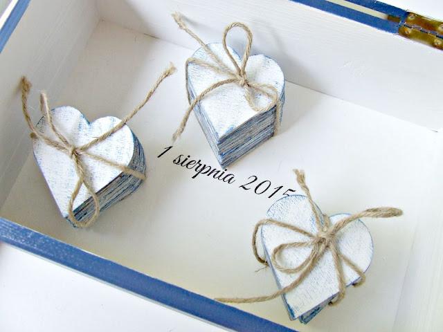 ślubne pudełko na koperty w stylu marynarskim Eco Manufaktura