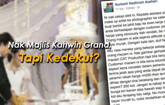 Nak Majlis Kahwin Grand, Tapi Kedekut? Baca Ini.