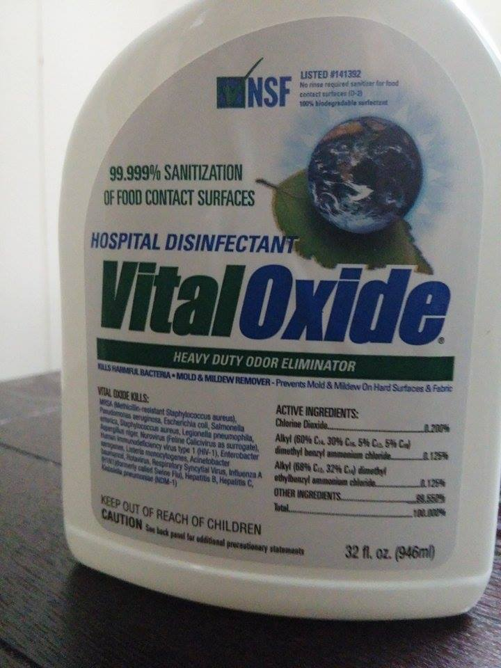 Popular Product Reviews By Amy Vital Oxide Disinfectant