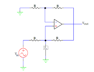 voltage to current converter with ground load