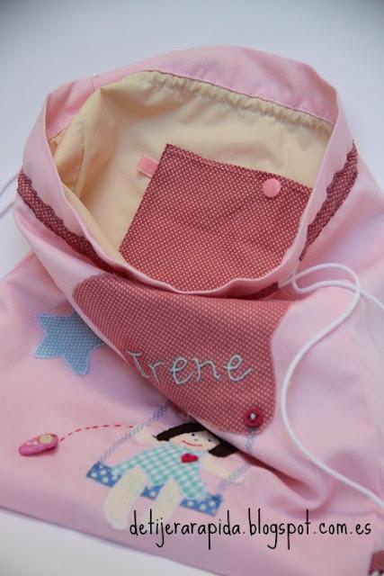 Bolsa para guarderia en rosa