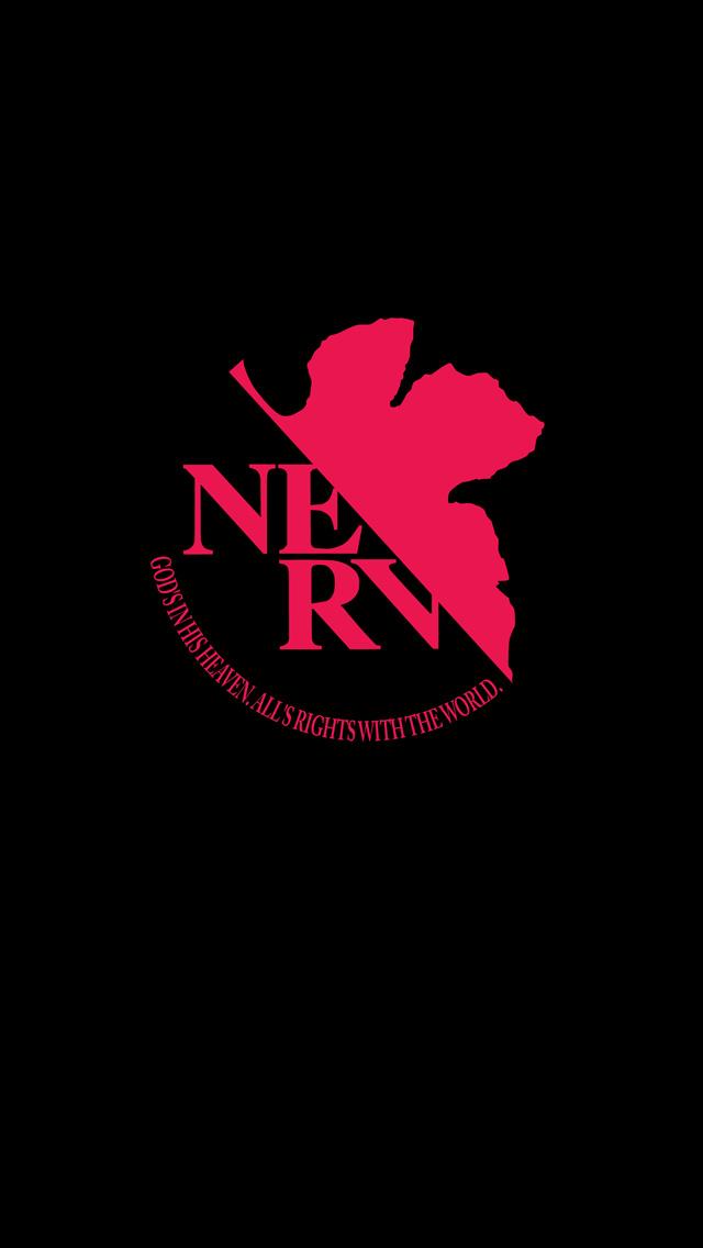 NERV(ネルフ)ロゴマーク iPhone5 サイズ:640x1136