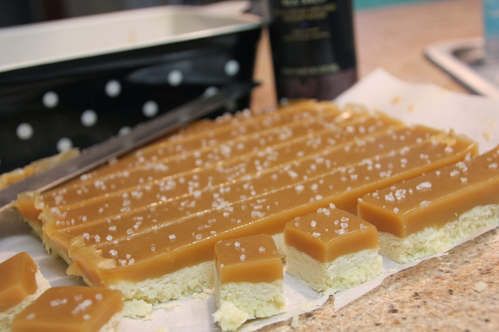 Girls in Aprons: Salted Caramel Shortbread