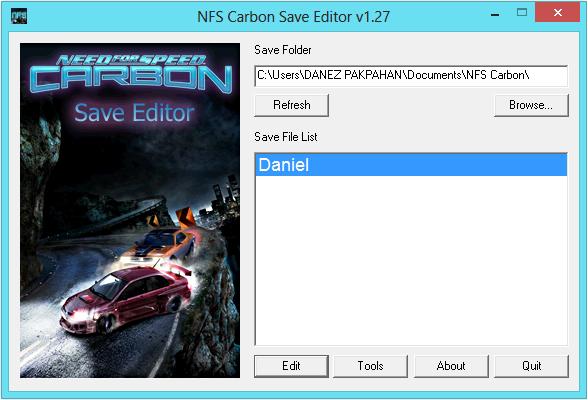 Предлагаем для скачивания программку Save Editor v 1.27 для NFS Carbon. .