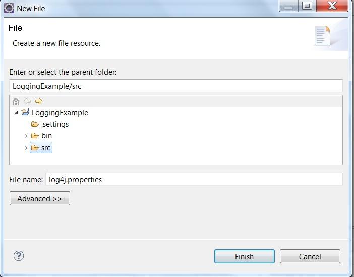 Logging with log4j Example :Java   ProgrammingFree
