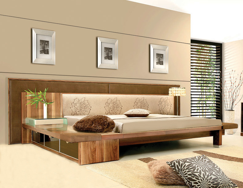 Queen Platform Bed Frame Plans 790 x 613