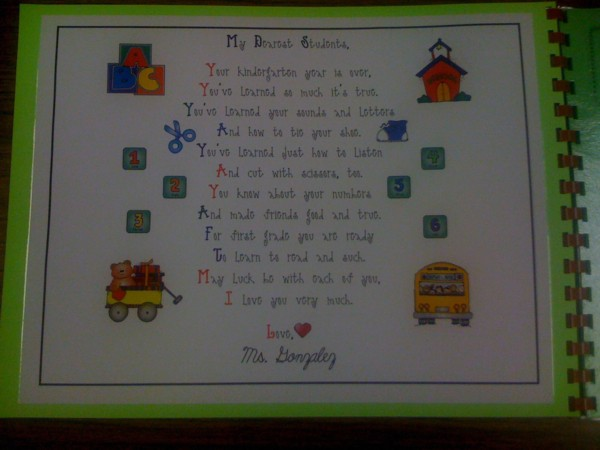 Kindergarten Poetry Book Cover ~ Mrs solis s teaching treasures kindergarten memory books