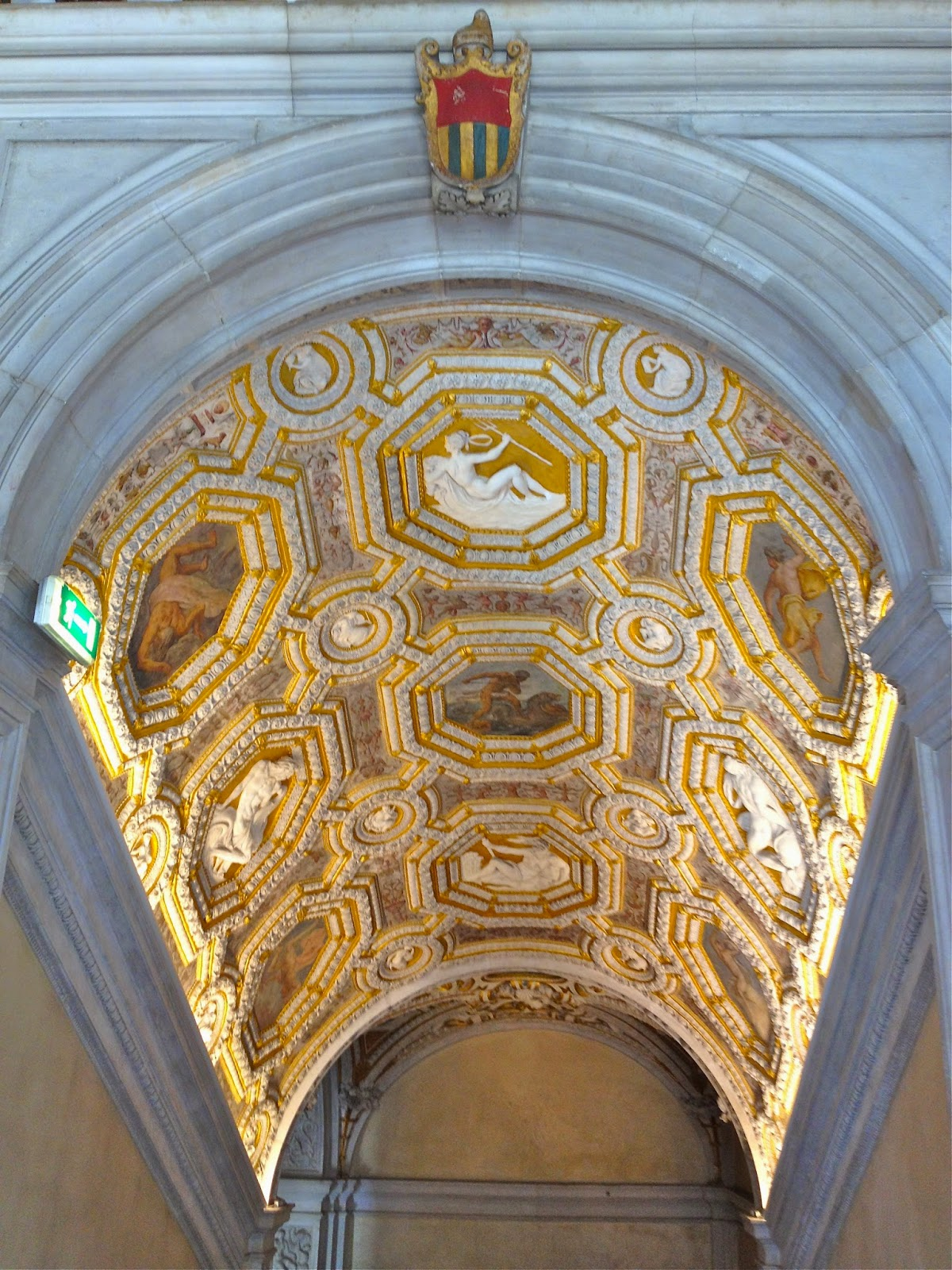 A staircase with lavish decorations in Palazzo Ducale, Venezia.