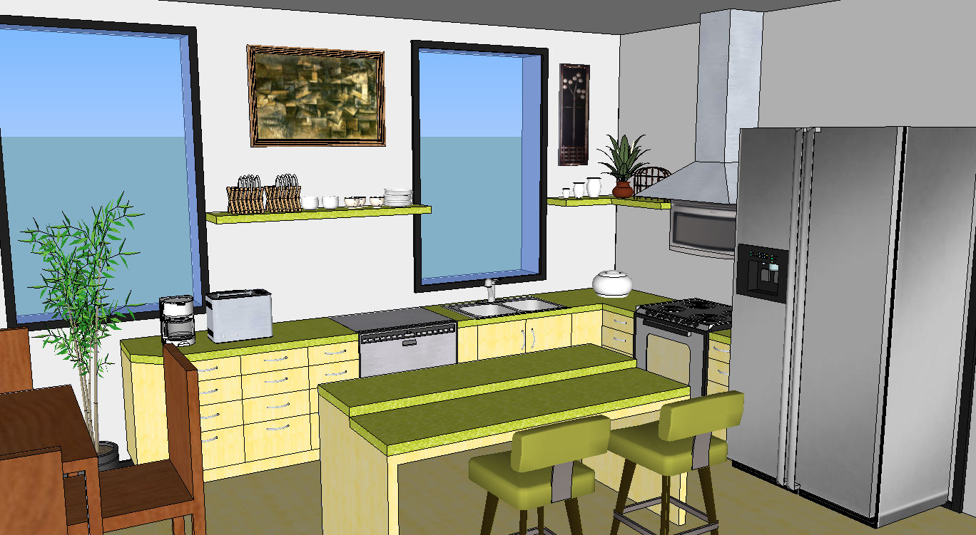Oreos design portfolio sketchup kitchen Kitchen design software google sketchup