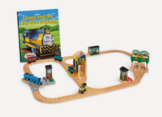 Logan & The Big Blue Engines Train set