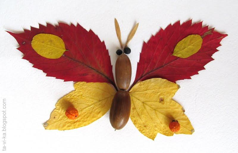 Поделки из листьев или природного материала 83