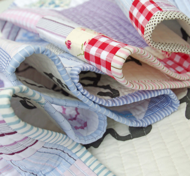 Worn and Washed Quilt - reclaimed shirt fabrics | Red Pepper Quilts