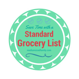 Save Time by Making a Standard Grocery List from Medium Sized Family Week 37 Featured Post