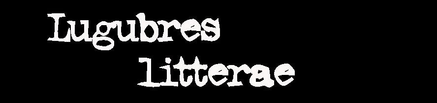 Lugubres Litterae