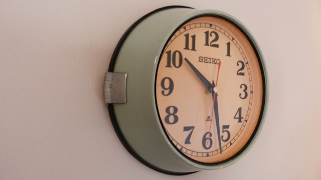 vintage clock, boat clock, time zone, mint, teal, old clock, wall clock, vintage wall clock