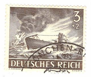 u boat  Perangko Jerman yang memperlihatk...