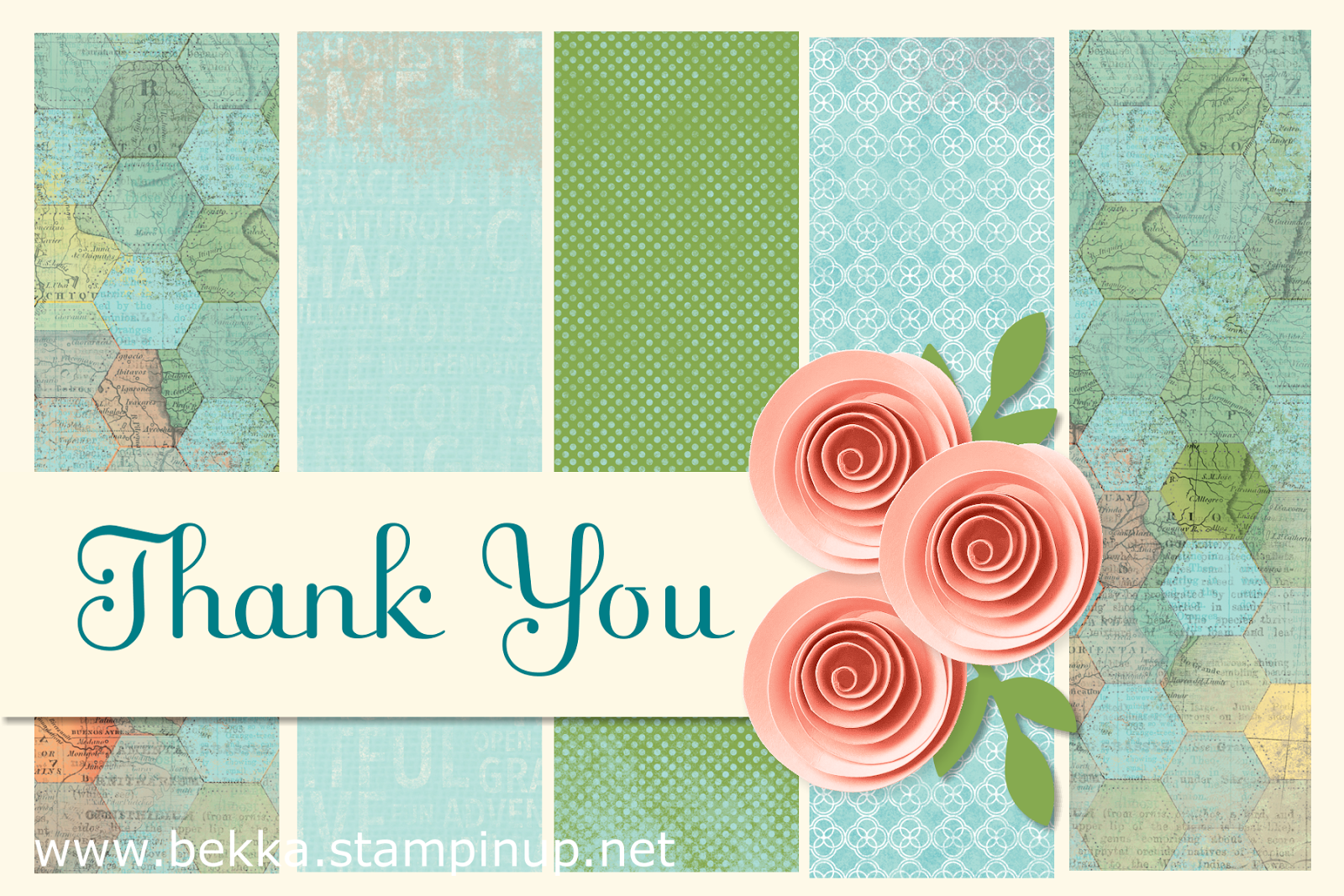 Digital Thank You Card by Stampin' Up! UK Independent Demonstrator Bekka - check out her blog every Monday for digital inspiration