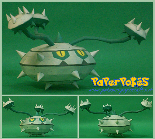 Pokemon Ferrothorn Papercraft