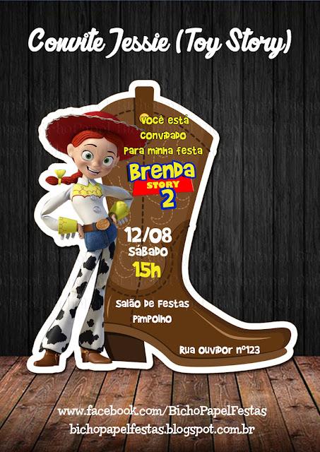 Convite Jessie Toy Story