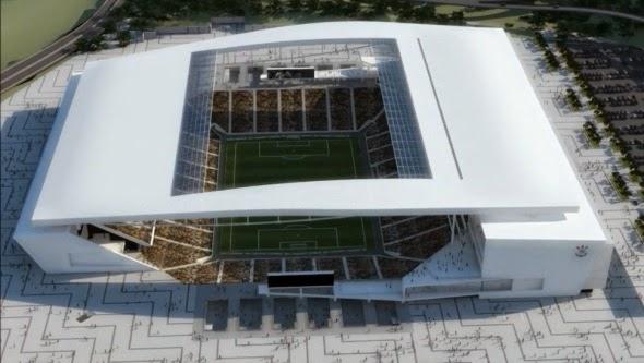 Partido inaugural mundial fútbol 2014 estadio Arena Sao Paulo