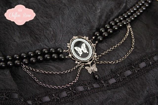 sheglit gothic lolita fashion chiffon rose shop kawaii tokyo japanese fashion choker