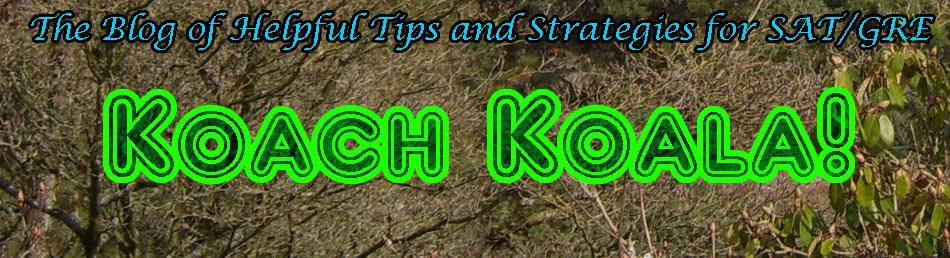Koach Koala's SAT/GRE Coaching