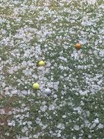 Granizo como pelotas de golf