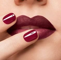 Marsala lips and nails