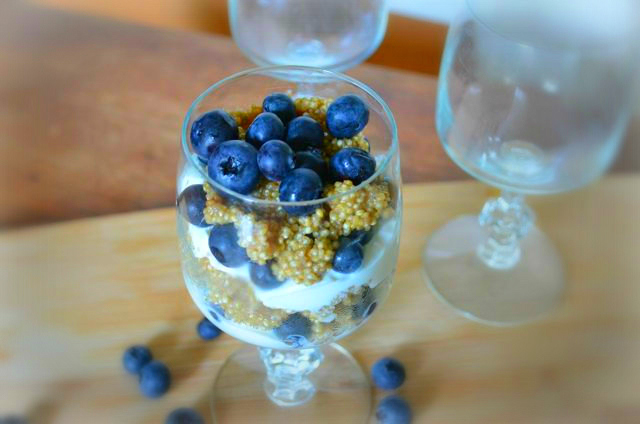 Breakfast Quinoa (and a Blueberry Parfait) | The Redhead's ...