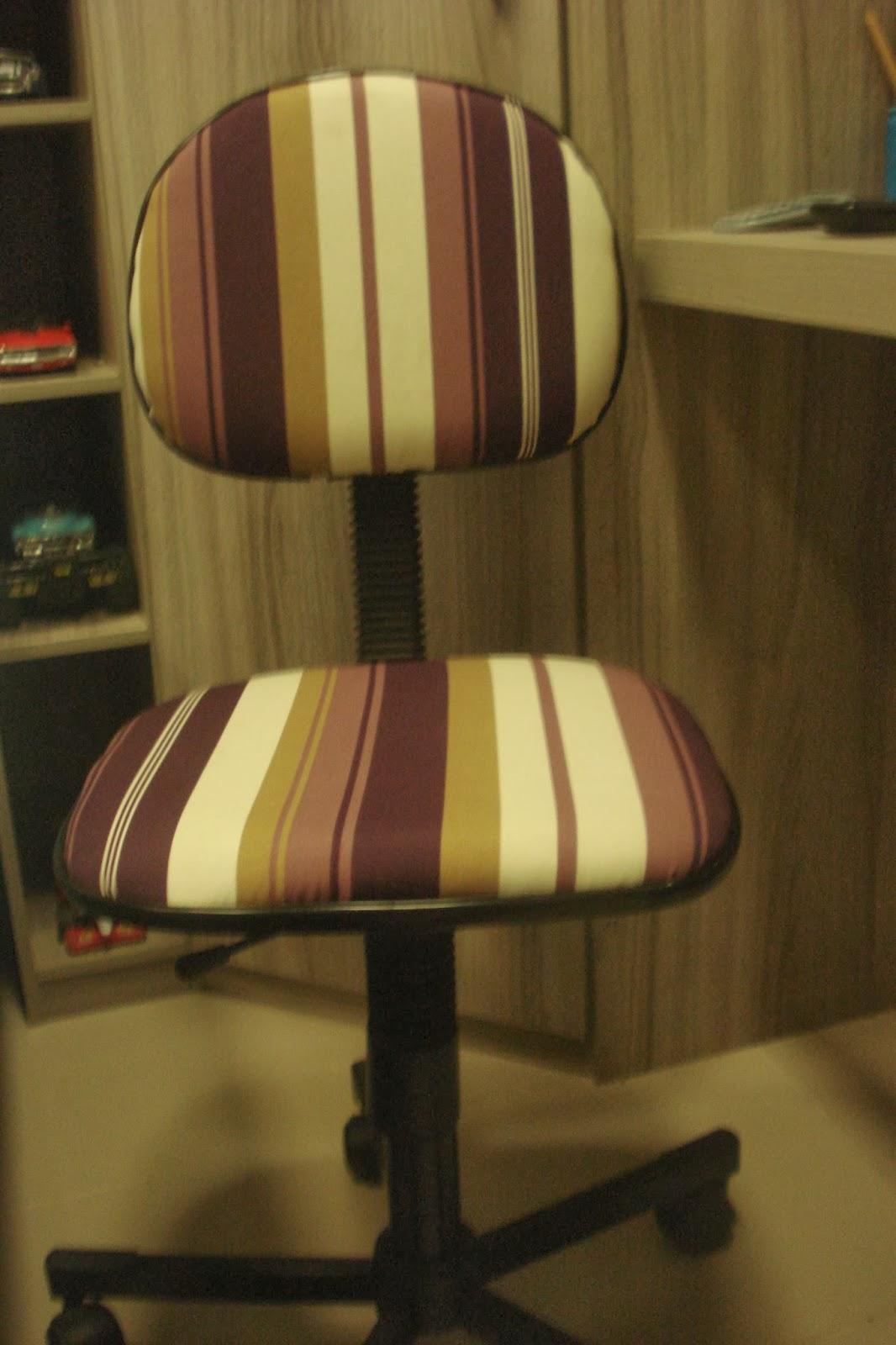 Li Vieira Artesanato: Pap Como forrar cadeira de escritório #AE341D 1066x1600