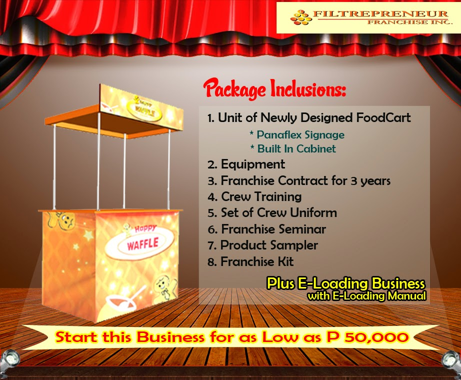 Foodcart For Franchise - A Waffle Food Concept Offered in the Philippines.