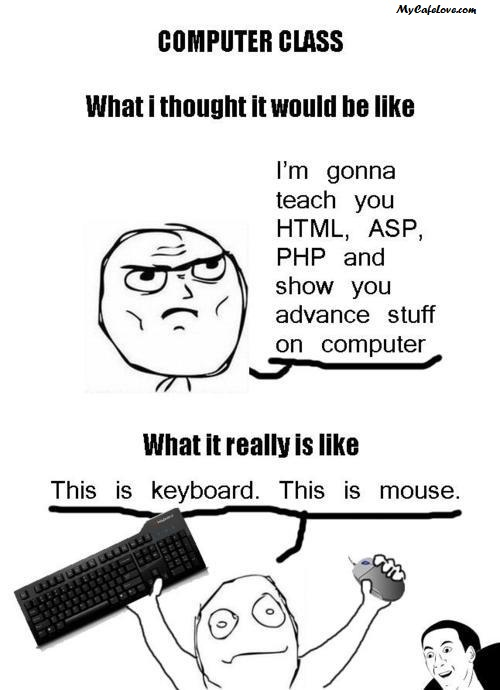 The reality about Computer class ~ funny thought