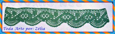 Barrado de Crochê com Gráfico