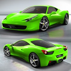 2013 ferrari 458 spider - Ferrari 458 Spider Green