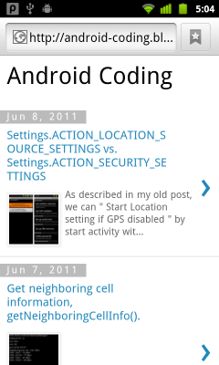 Android Coding@mobile