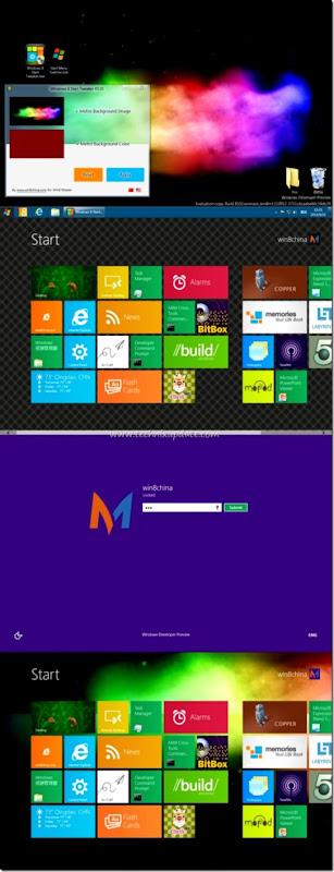 Set Change Windows 8 Metro Start Screen Background Wallpaper